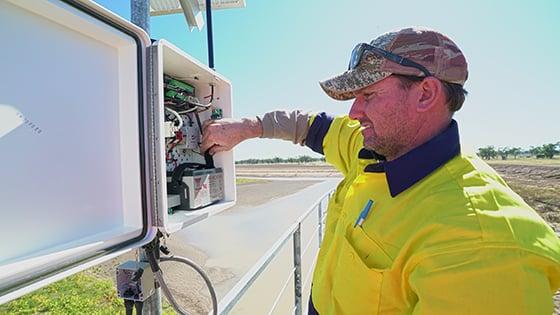 Sensor technology used to measure floodplain harvesting