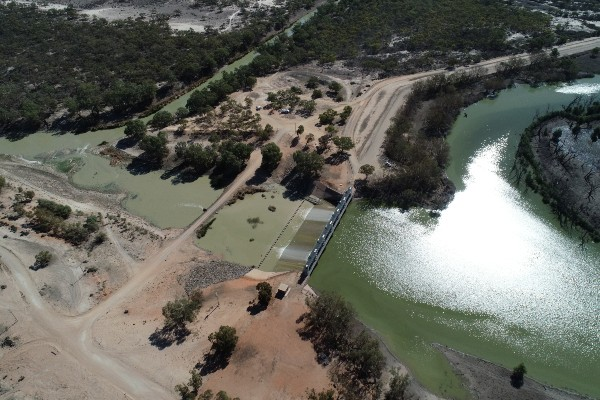 Drone Main Weir Menindee March 2020-resize